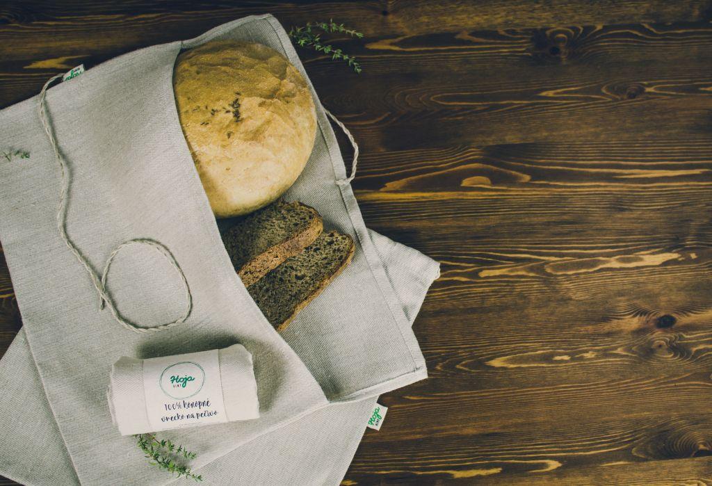 Konopné a bavlnené chlebníky, kuchynský textil